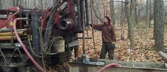 Allied Drilling in forest